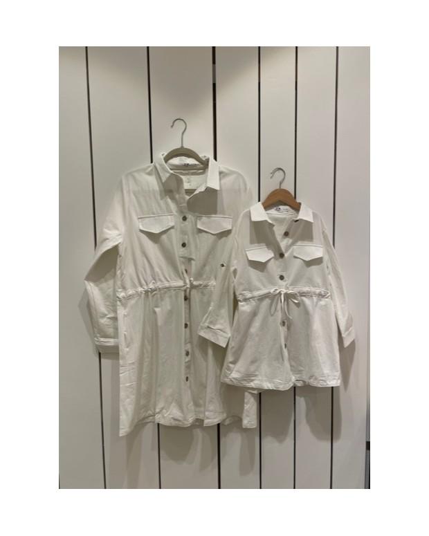 Robe blanche mère/fille