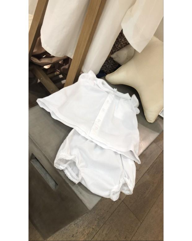 robe et bloomer blanc