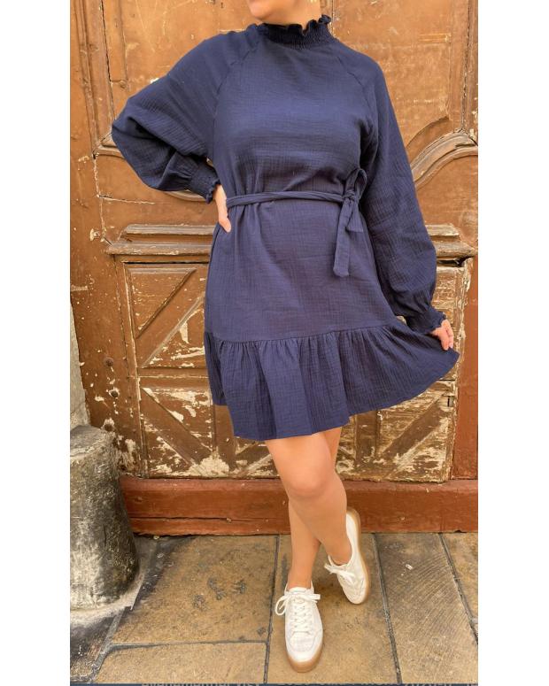 Robe bleu marine Sandra