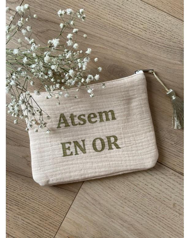 "Pochette ""ATSEM en or"""