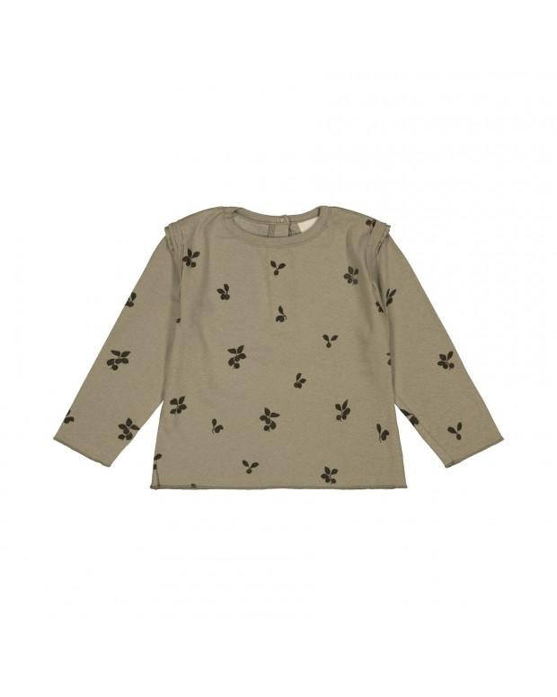 Tee-shirt lala kaki prunes