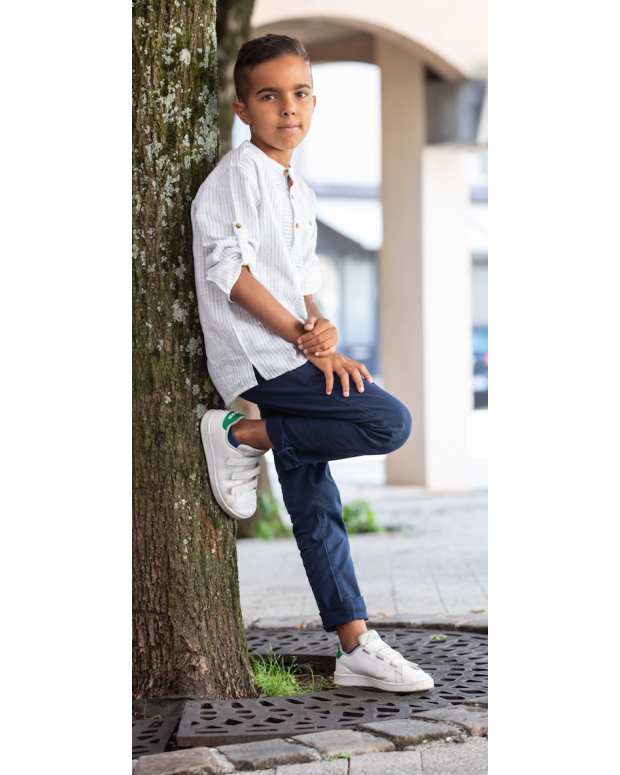 Pantalon chino bleu Lucas